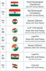 Indian Flag Badges and Lapel Pin