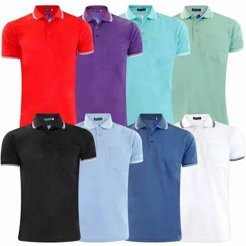 Plain Collar Mens T-shirt