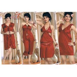 Ladies Six Piece Satin Nighty