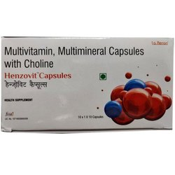 Henzovit Multivitamin Multimineral Capsules With Choline, Prescription, Packaging Type: Box