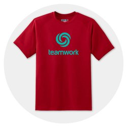 Red promotional T-Shirt (sublimation)