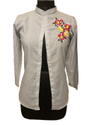 Cotton Embroidery Ladies Shirt