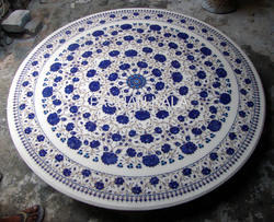 Marble Inlay Lapis Lazuli Table Top