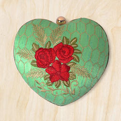 Light Green Heart Shaped Clutch