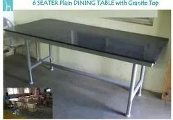 MS Frame with Granite Top 6 Seater Dining Table