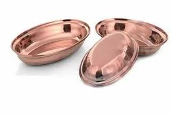 Stainless Steel Copper Plated Multi Purpose Platter Set