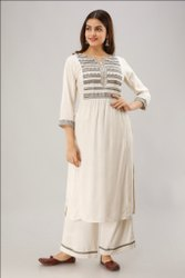 Casual Wear Unique Collection Rayon Kurti With Palazzo
