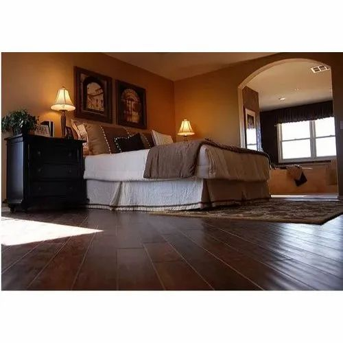 Wooden Hardwood Flooring, Thickness: 3-10 Mm, for Household