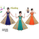Hatkay Girl Cotton Embroidered Designer Gown