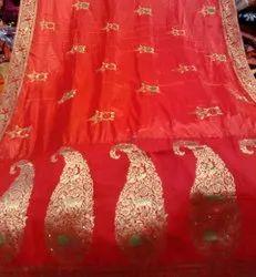 Red Boota Saree
