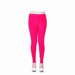 Pink Fancy Ladies Churidar Leggings, Size: Free Size & S-XXL