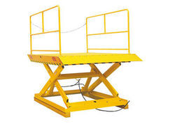 Stationary Scissor Lift Table With Double Hydraulic Pump