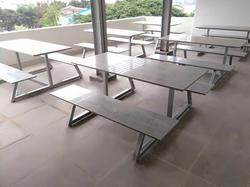 6 Seater Cafeteria Fixed Table