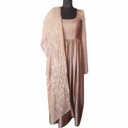 Silk Ladies Anarkali Party Wear Suits, Size: S-xxl, Machine wash