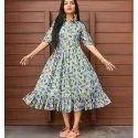 Ladies Multi Color Flare Dress