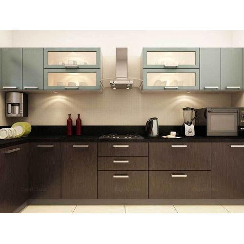 Small Modular Kitchen Designs: Brown Modular Kitchen, Rs 1000 /square Feet, Divine Design