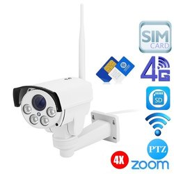 Wireless Sim Card 4G IP CCTV Security Camera
