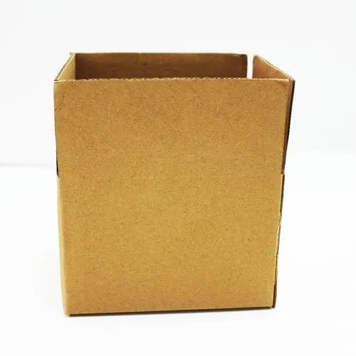 Single Wall - Brown 3 Ply Packaging Corrugated Box 5.5 x 4 x 4.75 Inch