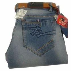 Plain Blue Ladies Denim Jeans