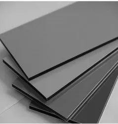 Metallic Silver Aluminium Composite Panel