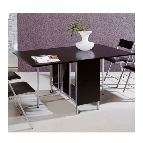 Brown Flip Flop Table With 4 Hidden Nano Chairs