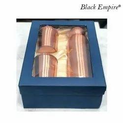 Plain Copper Bottle Gift Set