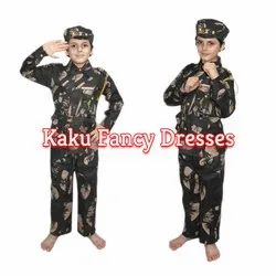 Kids Military Fancy Dress Costume