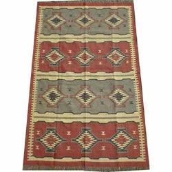 Multicolor Hand Woven Floor Carpet