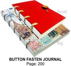 Button Fasten Gift Journal