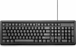 With Wire 114 HP Computer Keyboard, Size: 17.32 x 5.94 x 9.44 inch