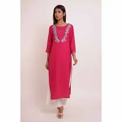 Designer Embroidery Kurti With Palazzo