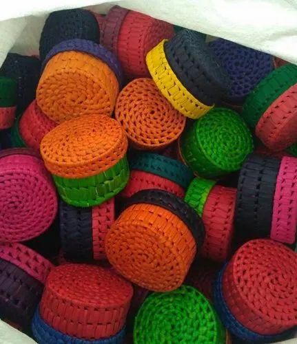 Multicolor Palm Leaf Box, For Retun Gift