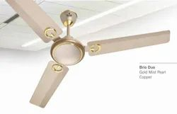 Brio Duo Gold Mist Pearl Copper Ceiling Fan