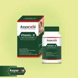 Vitamin-E Skin and Hair Supplement Capsule
