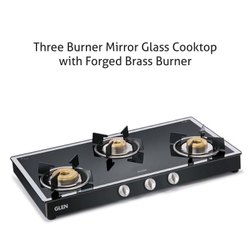 Glen 1038 GT 3 Burner Black Mirror Cooktop