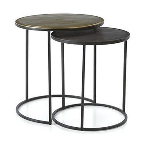 Black Metal Nesting Round Side Tables Metal Design Inc Moradabad