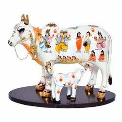 Kamdhenu Cow Calf Home Decorative Showpiece
