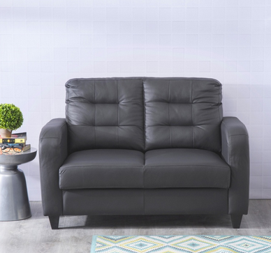 Montoya Half Leather Sofa 2 Seater Black