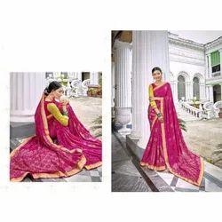 Ladies Designer Bandhani Silk Saree