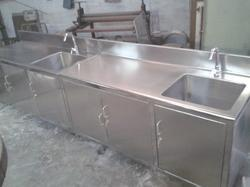 Stainless Steel Table Sink SS Table Sink Manufacturers Suppliers - Stainless steel work table with sink