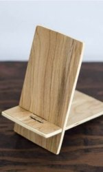 Mount Type White Wooden Mobile Stand Myka Finish, Size: Small