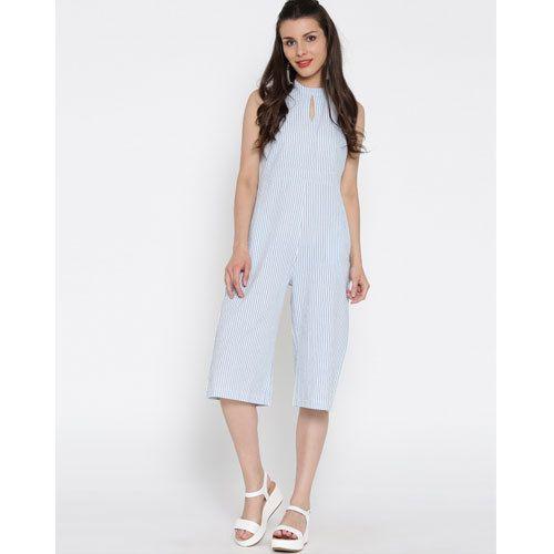 b3f48e689d5 Cotton White Sleeveless Women  s Jumpsuit