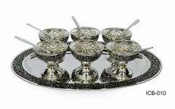 Pure Silver Ice Cream Set