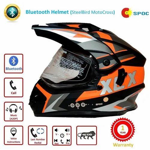 Bluetooth Helmet (SteelBird Motocross) at Rs 2200/box | Anand Parbat | New  Delhi| ID: 19601773362
