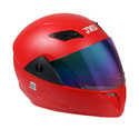 Fiberglass Red Trusty With Mirror Visor Helmet