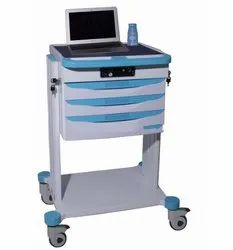 DREAMWIN Rectangular Ward Checking Mobile Trolley, For Hospital, Size: 450mm * 410mm