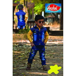 Cotton Casual Wear Kids Jacket Suits