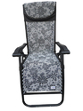 Folding Gravity Recliner Chair-GREY-FLOWERS