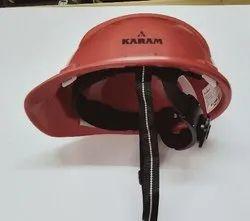 Safety Helmet Ratchet Strap Red