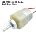 100 RPM 12v DC Center Shaft Gear Motor